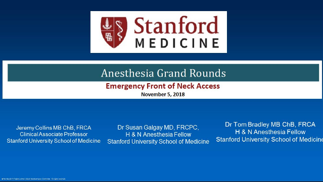 Grand Rounds - Lectures - Ether - Stanford Medicine